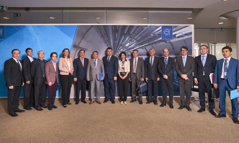 29 июня 2018 года в Женеве в рамках визита казахстанской делегации состоялось подписание Соглашения о международном сотрудничестве между Правительством РК и Европейской орг. по ядерным исследованиям относительно научно-технического сотрудничества