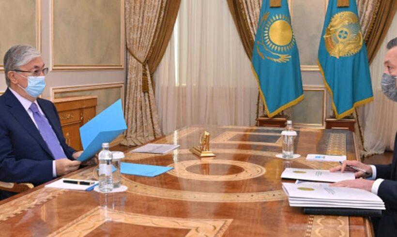 Президент принял министра экологии, геологии и природных ресурсов Сериккали Брекешева